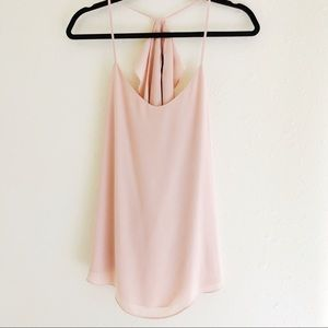 Never Worn Light Pink Chiffon Tank Top
